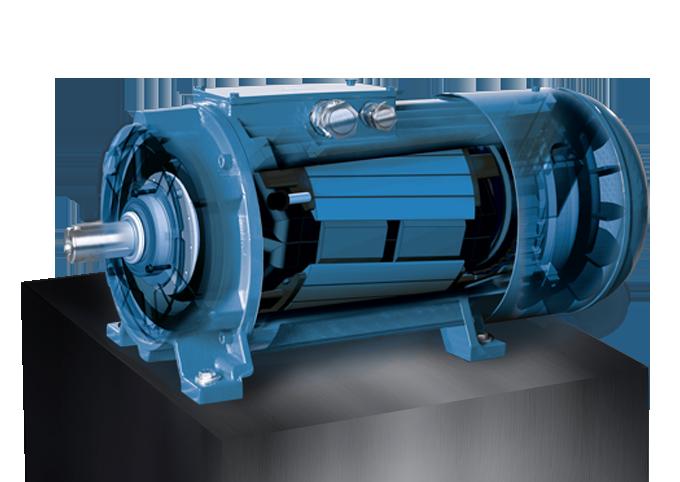 EME Produkte auf Box Rippengekühlte Synchrongeneratoren Transparent